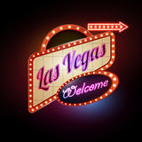 Neon sign. Las Vegas. Emblem Royalty Free Stock Photography
