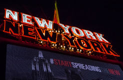 Neon sign for Las Vegas hotel New York, New York Royalty Free Stock Photography