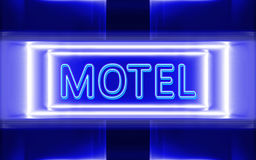 Neon sign of motel. Highly technological design of the neon sign of motel royalty free illustration