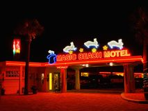Neon sign motel in St. Augustine Florida royalty free stock images