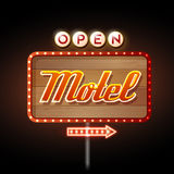 Neon sign motel Royalty Free Stock Photography