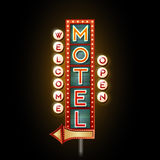 Neon sign motel. Night background Royalty Free Stock Image