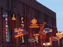 Neon Sign Museum In Edmonton Alberta Canada stock photography