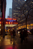 Neon sign for NBC Studios and Rainbow Room Stock Image