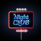 Neon sign night club Stock Photos