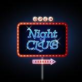Neon sign night club Stock Photos