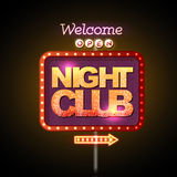Neon sign night club Royalty Free Stock Photography