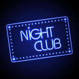 Neon sign. Night club Stock Images