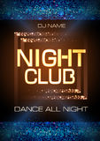 Neon sign. Night club disco party poster Royalty Free Stock Photography