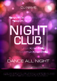 Neon sign. Night club disco party poster Royalty Free Stock Photo