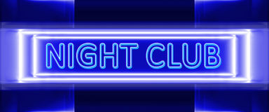 Neon sign of night club. Highly technological design of the neon sign of night club royalty free illustration