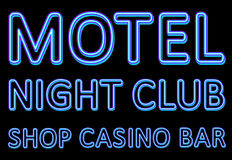 Neon sign of a night entertaining institution Royalty Free Stock Photos