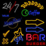 Neon Sign Pack Stock Images