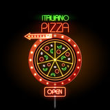 Neon sign pizza Royalty Free Stock Photos