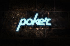 Neon Sign Poker Stock Images