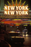 A neon sign that reads �New York, New York� at the hotel and casino in Las Vegas, Nevada Royalty Free Stock Image