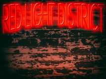 Neon Sign Red Light District Royalty Free Stock Photo