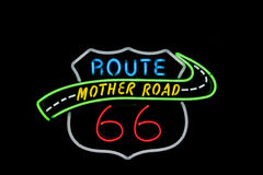 Neon sign , Route 66 Stock Photo