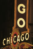 Neon sign that says Chicago of Chicago Theatre Stock Photo
