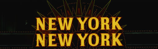 Neon sign that says New York New York Royalty Free Stock Photo