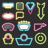 Neon Sign Set Royalty Free Stock Photo