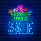 Neon sign Spring Sale Royalty Free Stock Images