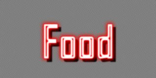 Food Neon sign take away royalty free stock photo
