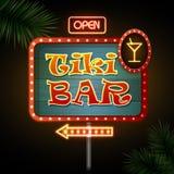 Neon sign. Tiki bar Royalty Free Stock Photos
