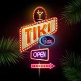 Neon sign. Tiki bar Stock Photo