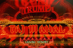 Neon sign for Trump's Taj Mahal casino Royalty Free Stock Image