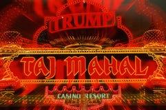 Neon sign for Trump's Taj Mahal casino Royalty Free Stock Image