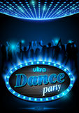 Neon Sign Ultra Dance Party Stock Images