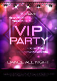Neon sign. V.I.P. party. Disco poster stock illustration