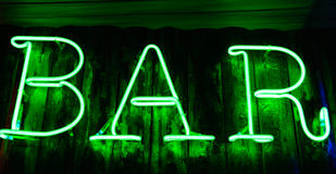 Neon signboard Stock Images