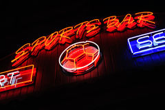Neon signboard Royalty Free Stock Image
