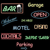 Neon Signs Royalty Free Stock Photography