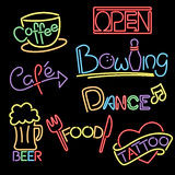 Neon signs Royalty Free Stock Images