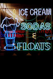Neon Signs. Neon sign in the window of a restaurant stock photo
