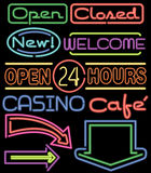 Neon Signs/ai Royalty Free Stock Photo