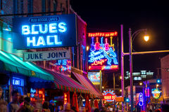 Neon signs on Beale street Stock Photography