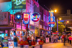 Neon signs on Beale street Stock Photo