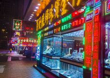 Neon signs in Macau. MACAU - MARCH 07 : Neon signs on the streets of Macau on March 07 2018 Stock Photo