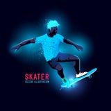 Neon Skater Vector Stock Image