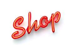 neon sklepu znak Obrazy Stock