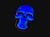 Neon Skull. Isolated neon skull stock illustration