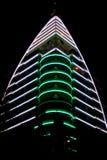 Neon skyscraper Royalty Free Stock Image