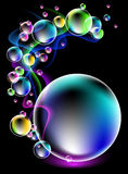 Neon smoke and spectacular bubbles Stock Image