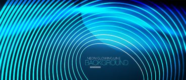 Neon smooth wave digital abstract background. Neon blue vector smooth wave digital abstract background royalty free illustration
