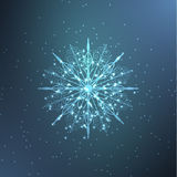 Neon snowflake Stock Photography