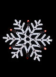 Neon snowflake christmas decoration Stock Image